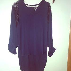 Hi-low formal blouse